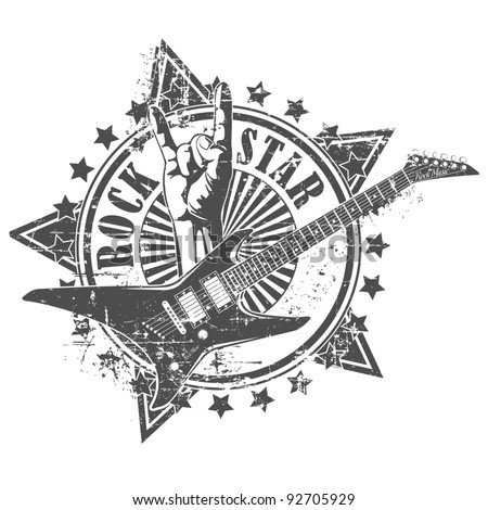 Rock star stamp