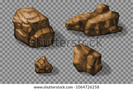 rock stones collection vector