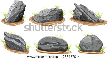 rock stones graphite stone