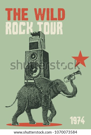 Rock Tour Flyer Poster Template