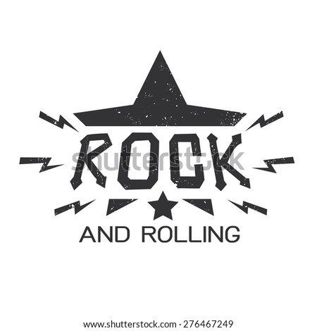 rock typographic for t shirt