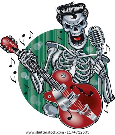 rockabilly skeleton singing and