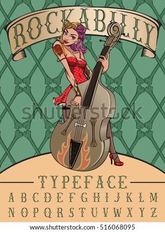 rockabilly typeface poster