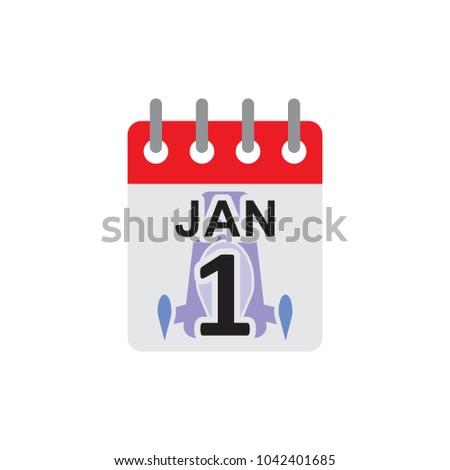 rocket calendar logo icon design