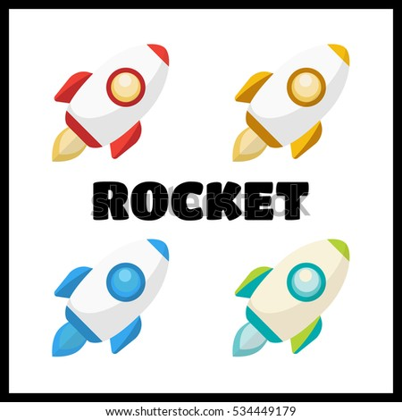 rocket collection icon rockets