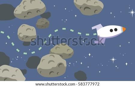 rocket finds path through
