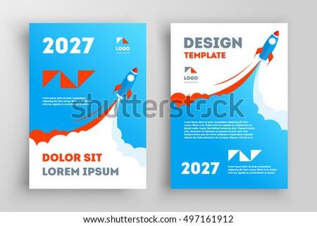 rocket flyer brochure design