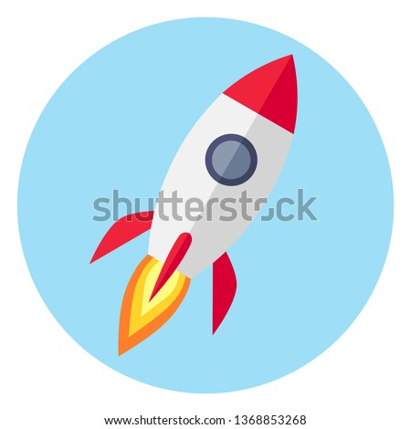 rocket icon flat design vector