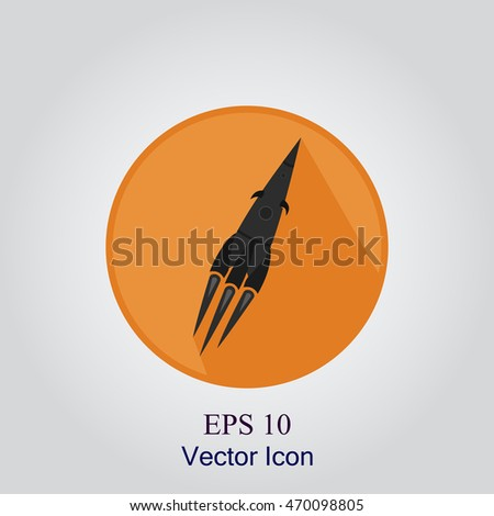 rocket icon  flat style with