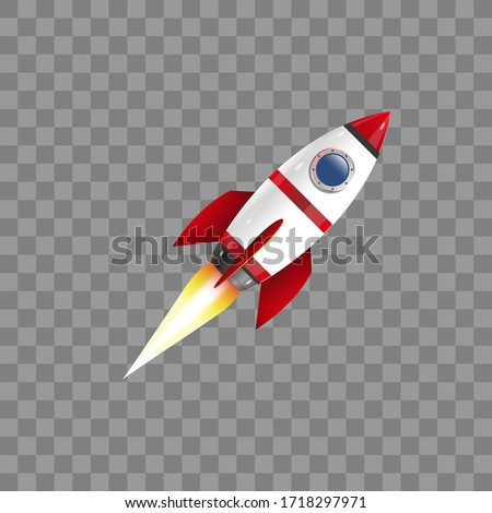 Rocket icon. Graphic template. Vector illustration