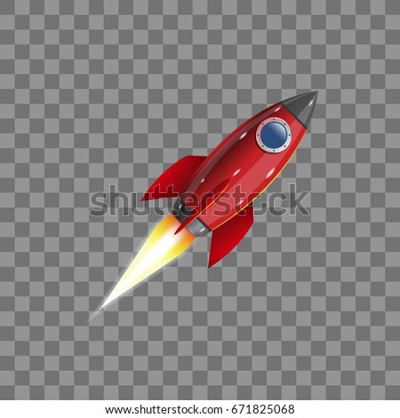 Rocket, icon. Vector illustration