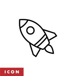 Rocket icon vector isolated. Rocket ship icon