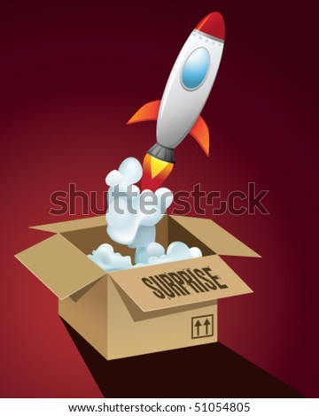 rocket in a the box