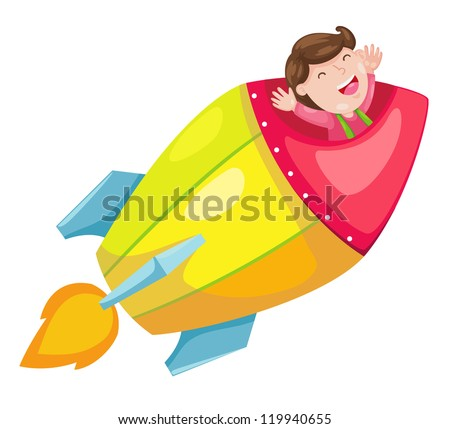 rocket isolated on white background vector