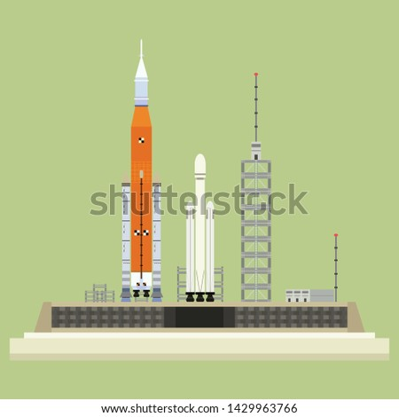 rocket launcher base space shuttle vector