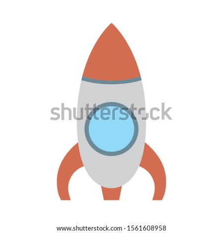 rocket launcher cute baby toy isolated icon vector illustration design
