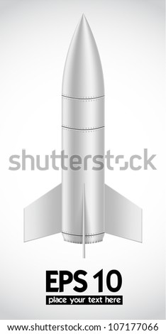 Rocket model toy, object on a white background, Vector illustration