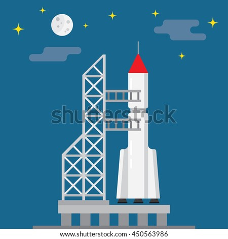 rocket ready to launch on a