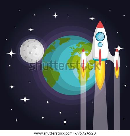 rocket spaceship planet earth