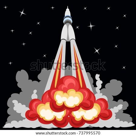 rocket takeoff Сток-фото ©