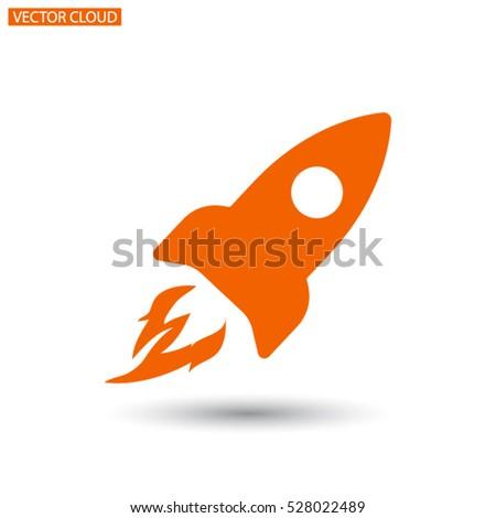 rocket  vector icon 10 eps