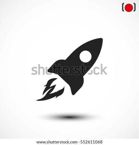 Rocket . vector icon 10 EPS