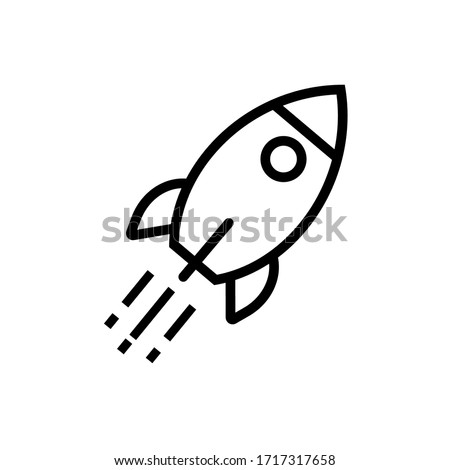 rocket vector icon for eps 10