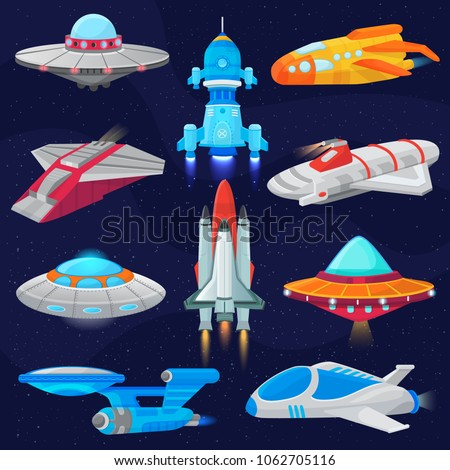 rocket vector spaceship or