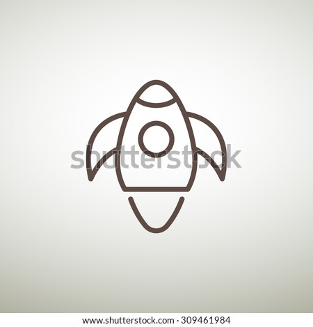 Rocket Web icon. vector design