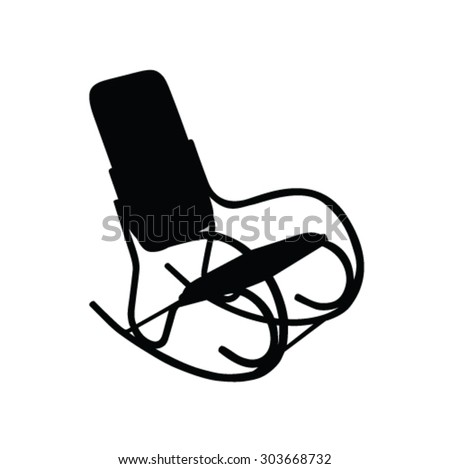 Rocking Chair Vector Icons Download Free Vector Art Stock