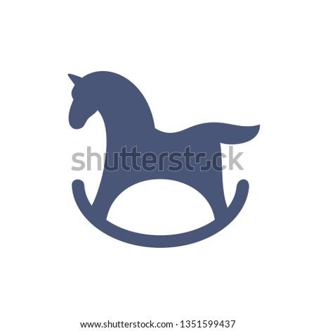 rocking-horse icon, children's toy, vector image Photo stock ©