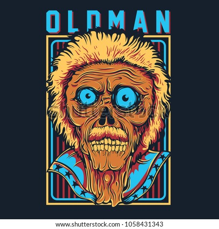 rocking oldman illustration
