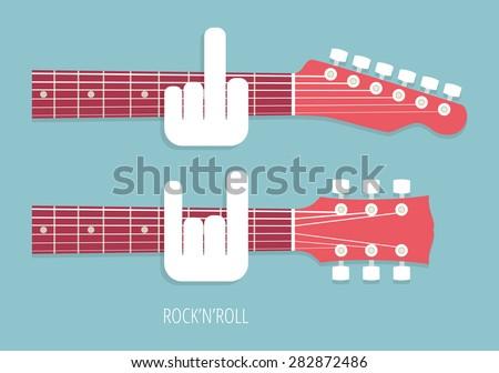 rocknroll  rock guitar necks