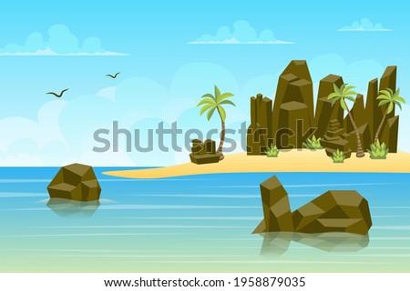 rocks by sea landscape