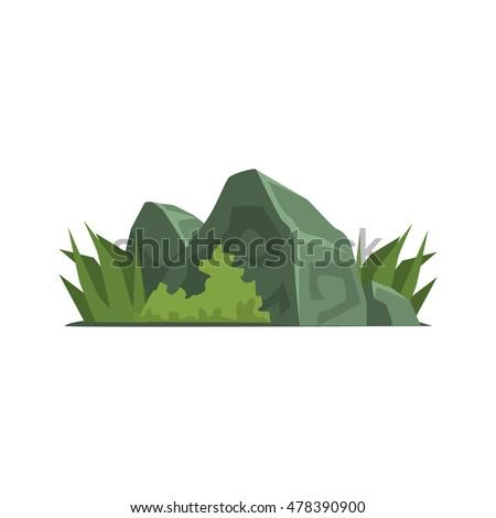rocks covered with vegetation