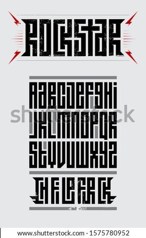 rockstar   original font