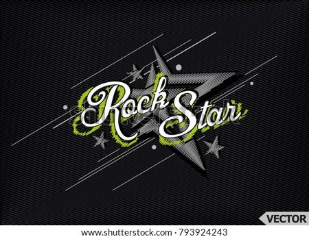 rockstar t shirt print poster