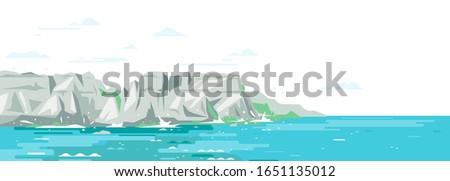 rocky cliffs ocean landscape