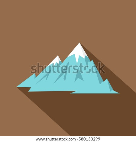 rocky mountains icon flat
