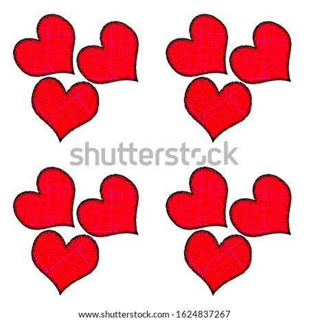 Rode harten naadloze patroon. Valentijnsdag vector Stockfoto ©