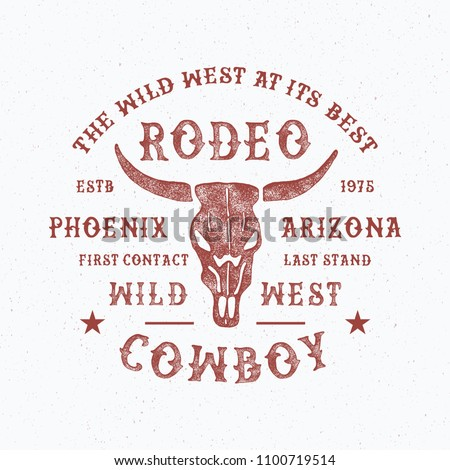 Rodeo typography. Arizona state,  vintage vector t-shirt graphics for print and apparel design. Logo, poster. Vector