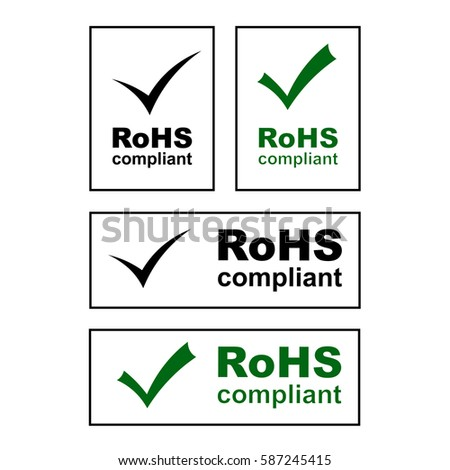 RoHS compliant badges, signs