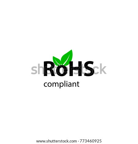 RoHs sign. RoHs compliant. Leaf green