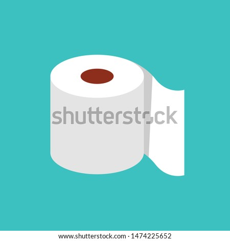 roll tissue paper in flat style