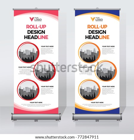 Roll up banner design print template