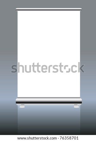 roll up banner display, blank , vector format