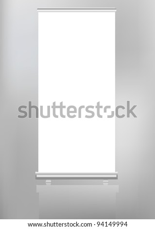 roll up banner display,free copy space, vector format