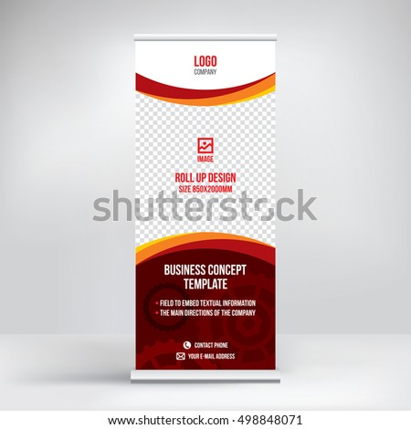 roll up banner graphic template