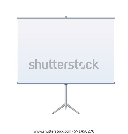 Roll Up Banner Stand on isolated clean background. Design template blank pop up banner display template for designer. Vector illustration EPS 10 Flipchart for promotional presentations at Stand Tripod