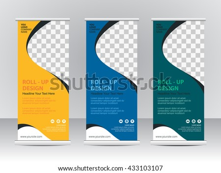business roll up banner vector design background download free